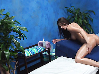Luxurious hottie strips, gets massaged and fucked so well