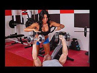 Lezley Zen's working as a personal trainer and this babe's got a new client, but this honey doesn't know which of the two guys it is in the gym. Johnny Sins tricks the other man into leaving the gym so this chab's alone for some one on one time with Lezley. First Lezley shows him some proper ways to toning some muscles, then later Johnny shows Lezley some hawt work outs that acquires her sweating!