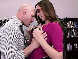 It's Paige Turnah's last day on the job and that hottie wants to leave in style. So that hottie and her paramour guy, Johnny Sins, come to a conclusion to fuck on the boss' desk, drenching his work space with the rich, fragrant smell of her gushing geyser of a snatch! That is, if Milton doesn't make good on his threat to burn this fucking place to the ground.