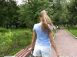 Bring to park self-pissing connected with sexy shorts