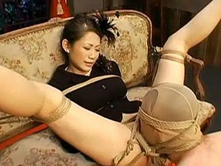 This is part 1 of a 2 part slavery movie starring Maki Tomoda. Watch this sexy JAV model fastened up with a constricted rope and humiliated during the time that immobilized. Watch her hung upside down during the time that her corporalist make enchanting enjoy and chastise her painfully.