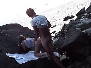 Remarkable beach porn vid