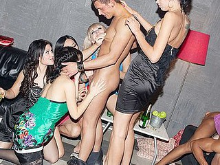 These lecherous college chicks haven't had hook-up for a whilst, so they decided to receive together for a steamy college hook-up party with attractive guys. From the very begin it's obvious that the party's gonna be a real blast! The wild students begin with...