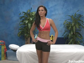 Tiffany B poses clothed before unwrapping