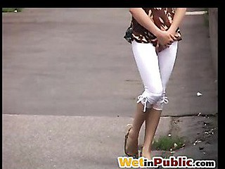 Public wet leggings
