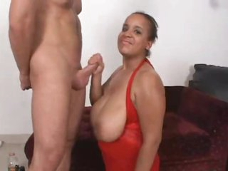 Fat baleful chick is well-shaped with cum