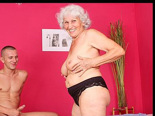 Busty grandma sucks shlong and gets fucked by a youthfull man