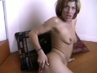 Female plays on web camera