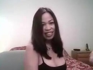 Hot lady desires to make a good sex tape and asks her ally to help her out. This chab acquires in screen and this babe puts on the best BJ show this babe can. This chab touches her too and displays her big tits and very hard nipples.