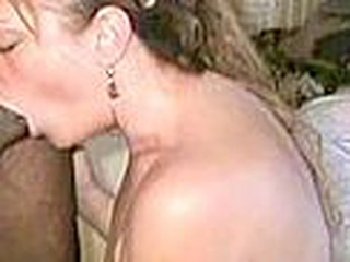 This mom with pretty floppy marangos is getting a huge black cock shoved down her throat. Sometimes it goes so deep this babe gags. No cumshot here though.