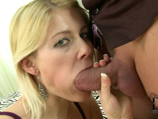 Blonde Juicy Cat is cock hungr