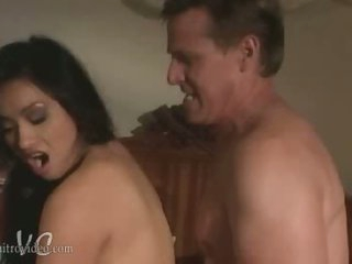 Exotic Oriental Babe Syren Gets Her Pussy Drilled and Her Boobs Caressed