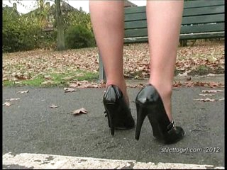 Debbie dresses to make your foot fetish fluid run wild