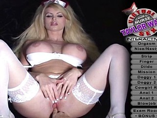 Gaffer Nurse Taylor Wane lies back to win her cunt fingered