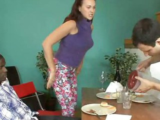 Josi Valentine and Her Hubby Take Turns Engulfing Darksome Dick