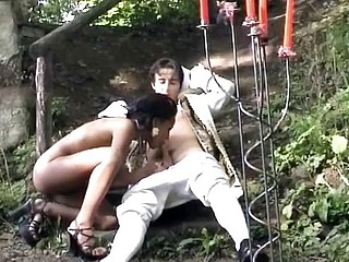 Bootilicious pirate slut from Germany fucks her 1st boy-friend