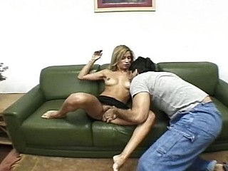 Constricted Brazilian blondy acquires her a-hole gaped open by a big dick