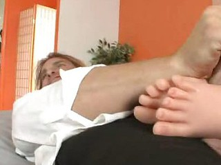 Jaslene Jade Satisfies Her Spouse with a Footjob