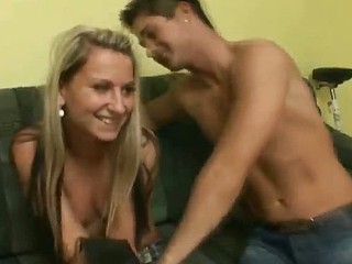 Stud warms a blondie