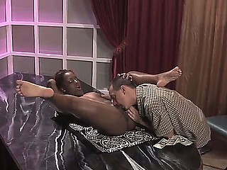 Smoking sexy Miss Psexy is delighting white stud with skillful blowjob and vigorous riding