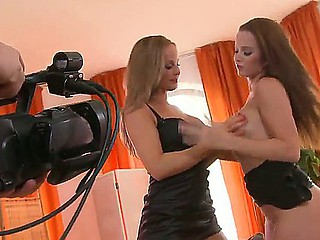 Cindy Dollar and Silvia Saint are enormous one nasty separate lesbian livecam show
