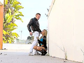 Barefaced minx Erica Fontes performs an awesome public coitus action, licking a dick and being nailed in be imparted to murder square