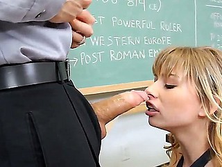 Strict teacher Erik Everhard punishes his disobediant student Molly Bennett