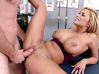 Jordan Ash test his modern methods of treatment on breasty and gripping Shyla Stylezs body