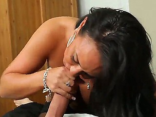 Brunette with yam-sized innate tits Mariah Milano lets horny male Alec Knight to pound her great
