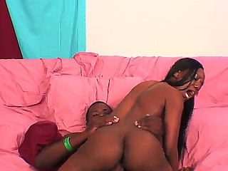 Black ebony Nina Devon enjoys having a hardcore deep fucking along hunk with a huge dick