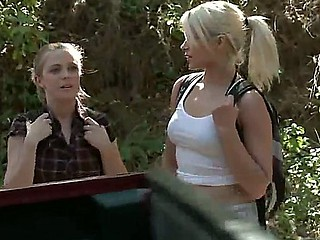 Anikka Albrite and Penny Pax,James Deen alongside search of forest adventures