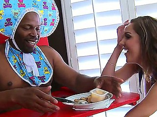 Gorgeous Kiera King doing a role play with her big baby black boyfriend