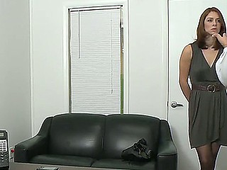 Amazing skinny brunette sweetheart Nicole Rider taking off her dispirited dark dress on camera