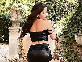 Beautiful petite Oriental Danika loves posing