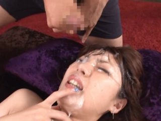 Asian Beauty Enjoys a Bukkake Madness!