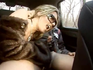 Hot ass fucking and a car oral-stimulation