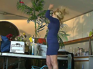 Large tittied golden-haired woman Claudia Valentine