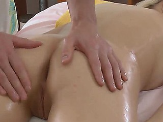 Petra is in the massage salon