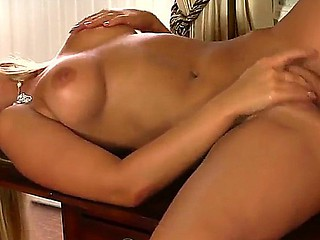 Steaming sexy tanned blonde bombshell Marry