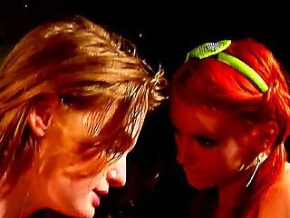 Two redhead lesbians Dani Jensen and
