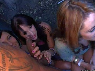 Ashli Orion, Heather Hurley, Chelsie Rae are three playful white
