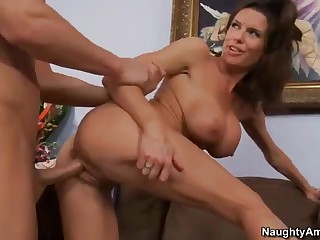 Busty cougar Veronica Avluv  takes ramrod from behin