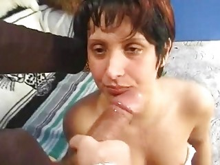 German pussy nailed before facial