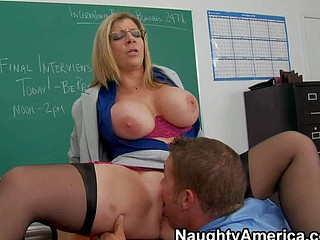 Professor Sara Jay is a horny older woman with massive