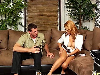 Arousing handsome flaxen-haired asian milf Jazmine