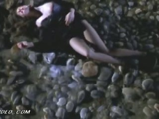 Breathtaking French Playgirl Laetitia Casta Gets Beaten Up In a Sexy Dress