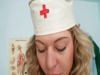Vanesa naughty nurse uniform good-luck piece masturbation