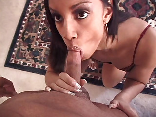 Sexy Ebony Enjoys Getting Fine Facial After Admirable Deepthroat