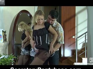 Blanch&Adam unvaried pantyhose dealings video