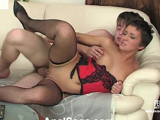 Smashing looking unladylike trying hawt sex with wringing wet foreplay and unfathomable anal endeavour